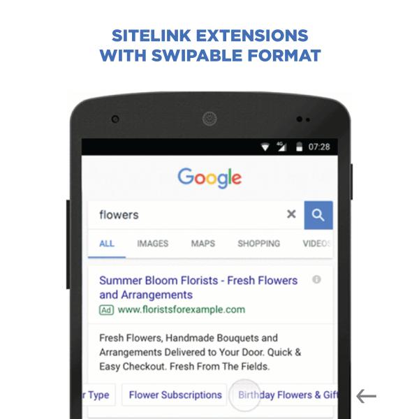 Sitelink Extensions - Swipeable